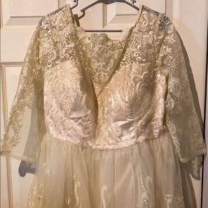Women's short wedding dress